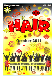 Programme from the musical Hair