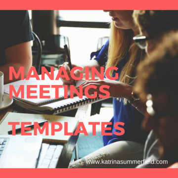 Virtual Assistant - Managing meetings templates