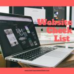 New Website check list