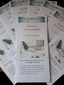 Leaflets for Katrina Summerfield Virtual Assistant